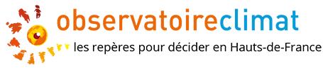 Titre et logo orange et bleu